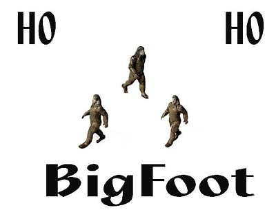 BIGFOOT BIGFOOT in his Classic Walking through the woods pose HO Finished Figure