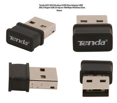 Tenda W311MI Wireless N150 Pico Adapter IEEE 802.11b/g/n USB2.0 Upto 150Mbps #82