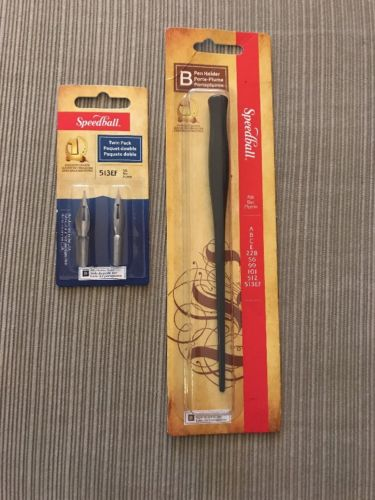 speedball calligraphy Pen Holder+twin Pack Nib Holder Style B