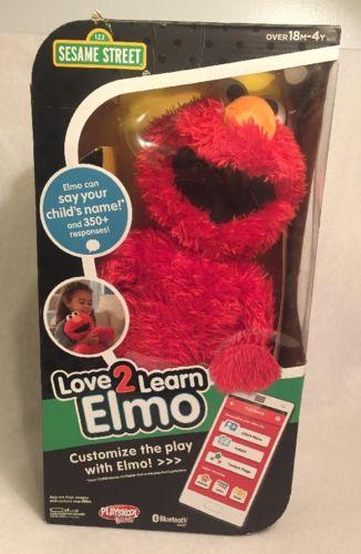 Love2Learn Elmo Interactive Uses App Sesame Street Playskool Used In box *works*
