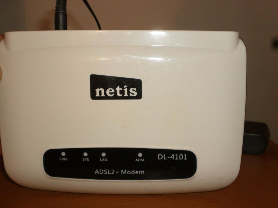 NETIS  ADSL2 Plus Modem, Model  DL-4101 White Color Tested, Working