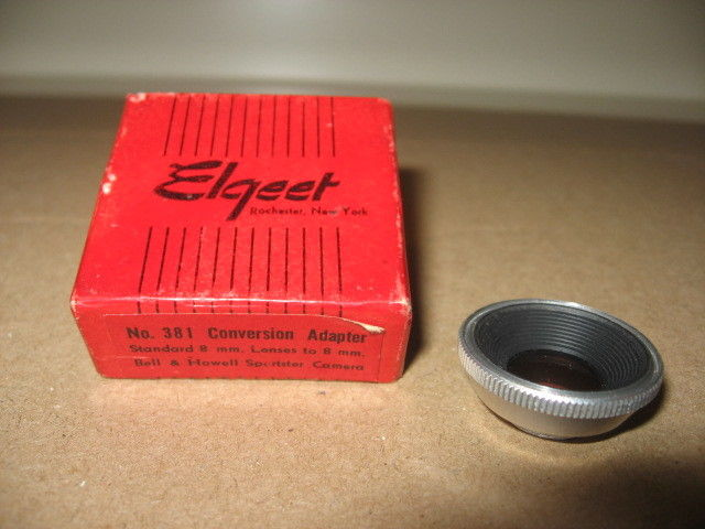 Elgeet No.381 Conversion Adapter Lens 8mm for Bell & Howell Sportster Cameras