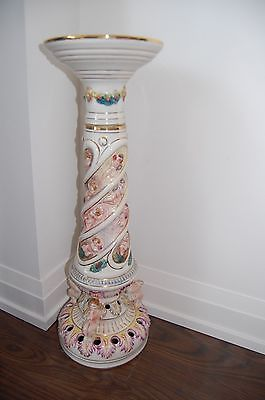 full size vintage Capodimonte pedestal facory stamped must see