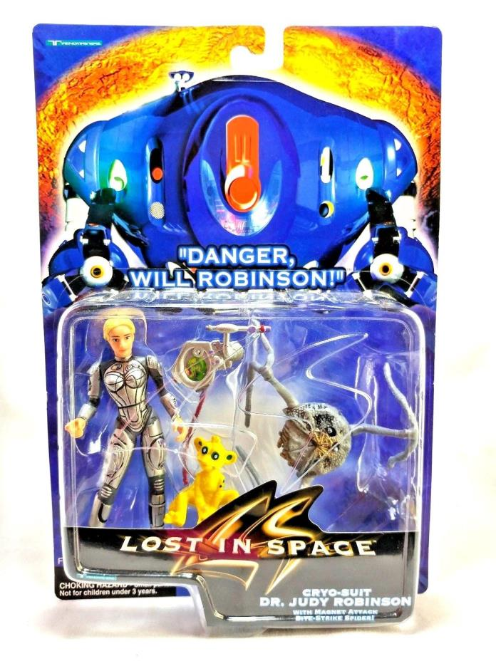 Trendmasters 1997 Lost In Space Cryo-Suit Dr Judy Robinson Action Figure & Blawp
