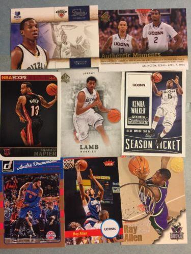 (215) UConn Huskies Basketball Card Lot! Ray Allen- Walker- Lamb- Napier- Rip