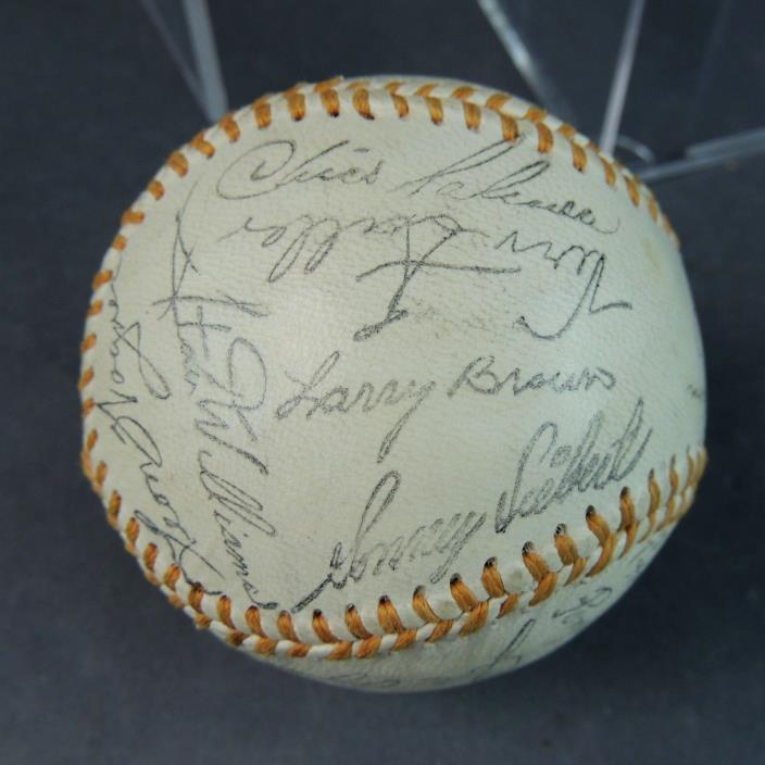 1968 Cleveland Indians Team Facsimile Signatures on Baseball