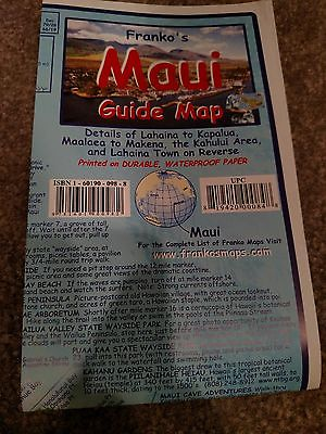 Maui laminated map great for cycling and all outdoor activities.  Also: 10=$40