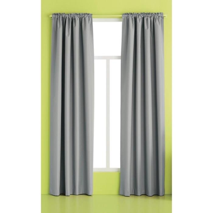 Room Essentials Twill Curtain Panel Gray 42