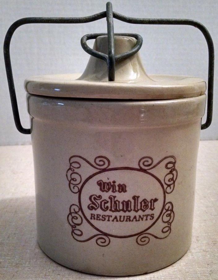 Vintage Cheese Crock With Metal Snap Lock Win Schuler Restaurants