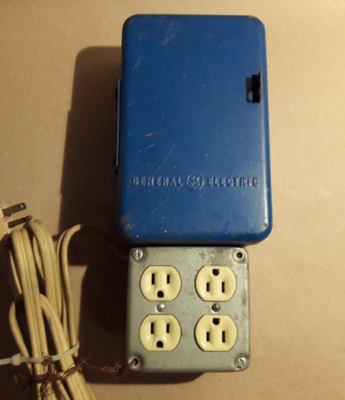 Vintage GE General Electric Automatic Time Switch Type TSA-47 Timer Light
