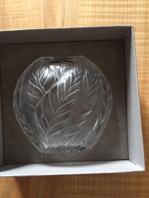 Lalique Filicaria Vase Clear France NIB