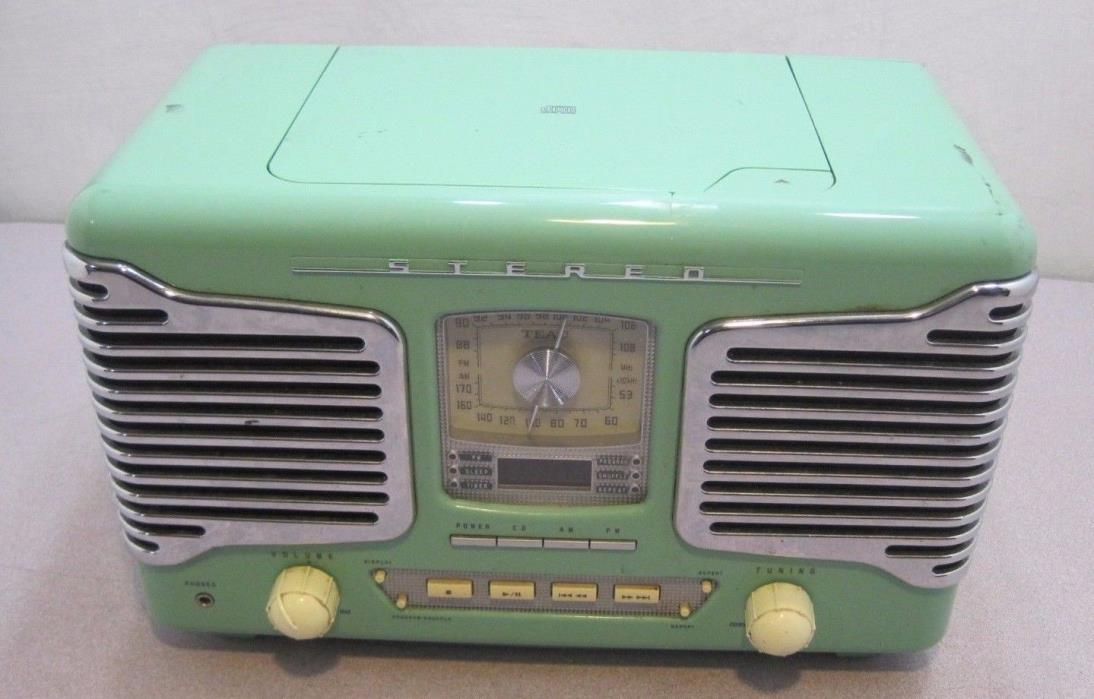 Teac Model SL-D80 Green Retro Radio CD/AM/FM Stereo Alarm Clock PARTS/Repair
