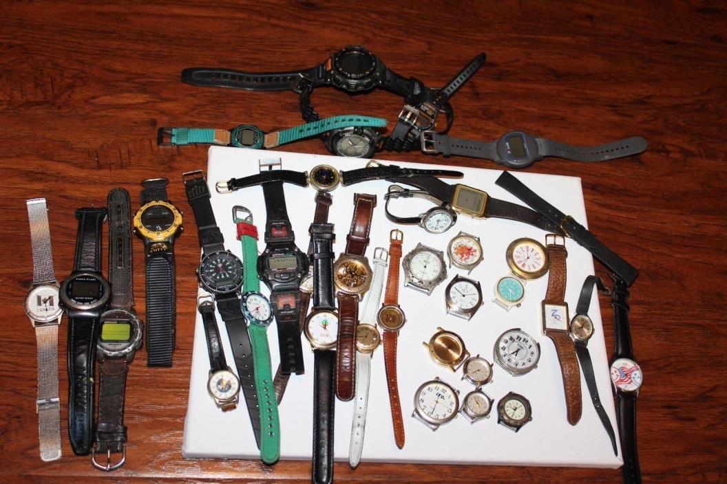 "Lot of 40 Vintage Watches - Sold ""As Is"" for Parts or Repair"