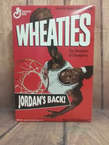 Never opened Michael Jordan Limited Edition Wheaties Cereal Box 1995