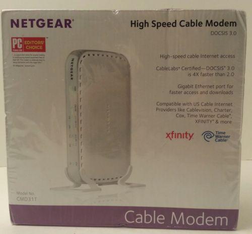 BRAND NEW - SEALED - NETGEAR DOCSIS 3.0 - High Speed Cable Modem CMD31T-100NAS