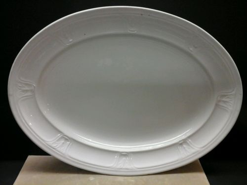 VINTAGE 17 INCH T&R BOOTE WHITE IRONSTONE PLATTER HEAVY 4.5lb