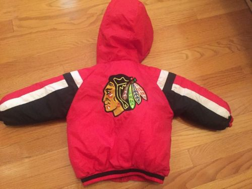 Chicago Blackhawks NHL 24M zipper red black jacket Toddler Baby Starter Type