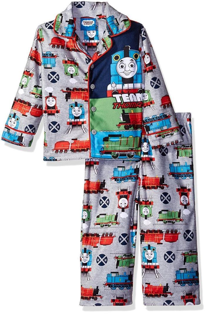 NWT 2T Toddler Boy Thomas and Friends Shirt & Pants Pajama Set Button Up $30