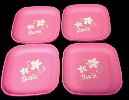 Vintage Tupperware Tuppertoy Play Food Dishes Plates Barbie Set Of 4