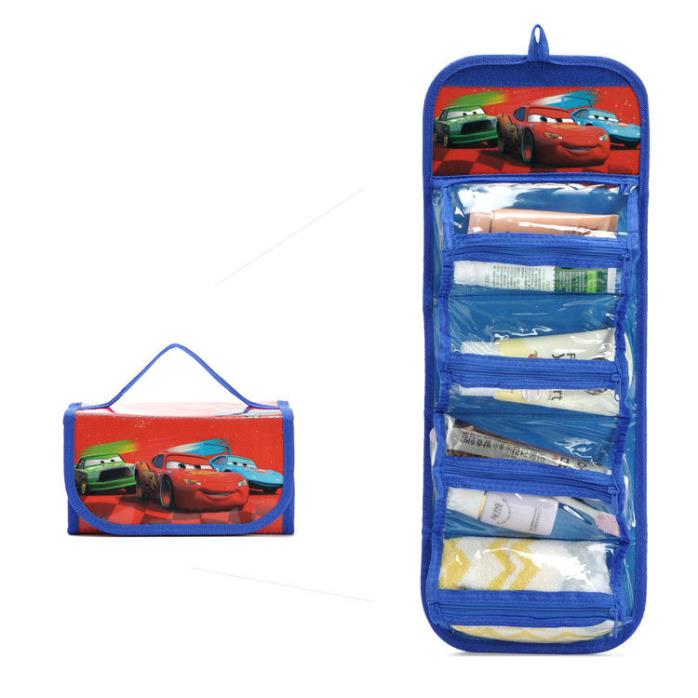 CARS Hanging Wall Organizer Storage Great for Boy's Room Or Toiletry Travel Blue