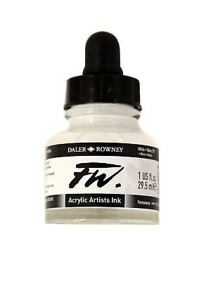 DALER-ROWNEY 160029011 FW FW LIQUID ARTISTS' ACRYLIC INK 1 OZ. WHITE