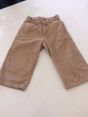 Janie and Jack Baby Boy Toddler Corduroy Tan Pants Size 18-24MOS