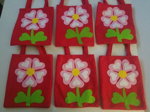 6 Handmade Flower Gift Bags