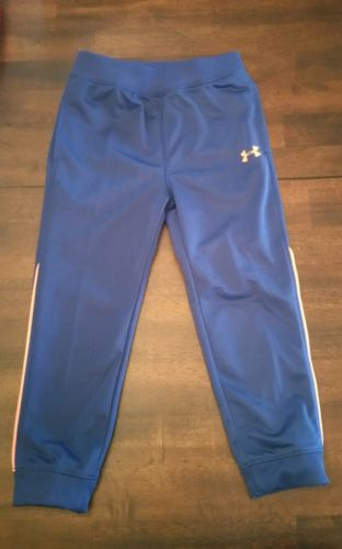 NWT - UNDER ARMOUR 4T Toddler Boy Navy Blue Orange Accent Play Pants Bottoms