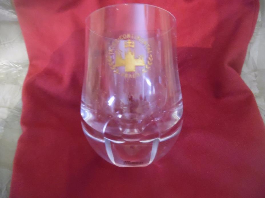 Intercontinental Praha (Prague) Glass by Moser Signed