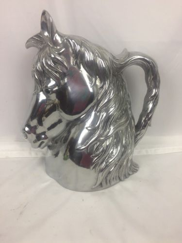 Arthur Court Retired Horse Head Pitcher 2004 Free Shipping!
