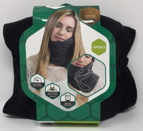 Trtl Pillow- Super Soft Neck Support Travel Pillow - Black |Free Shipping