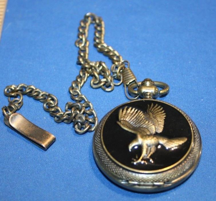 Nice Pocket Watch with Eagle and chain