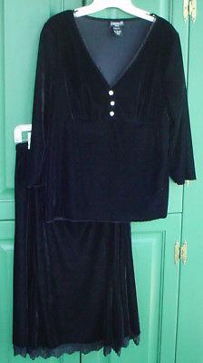 Black Velvet Skirt and Top Set by b.i.y.a.y.c.d.a