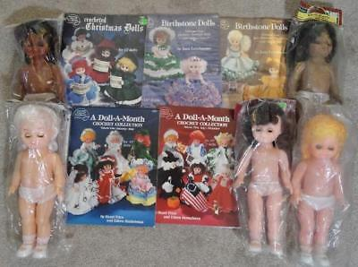 DOLLS & CROCHET PATTERNS - 5 Dolls 13