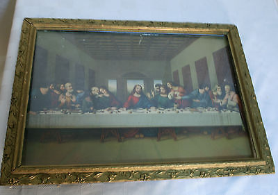 Wooden Gold FRAME gilted LAST SUPPER PRINT 22 1/2