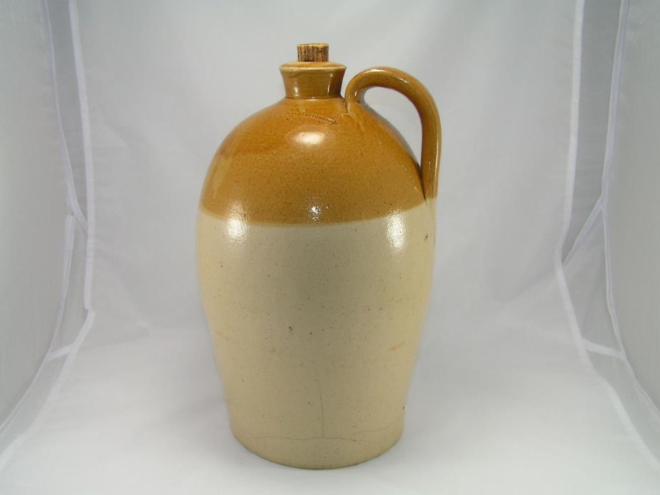 Antique Price & Sons Manufacturers Bristol Large Salt Glaze Jug Crock c.1843-49