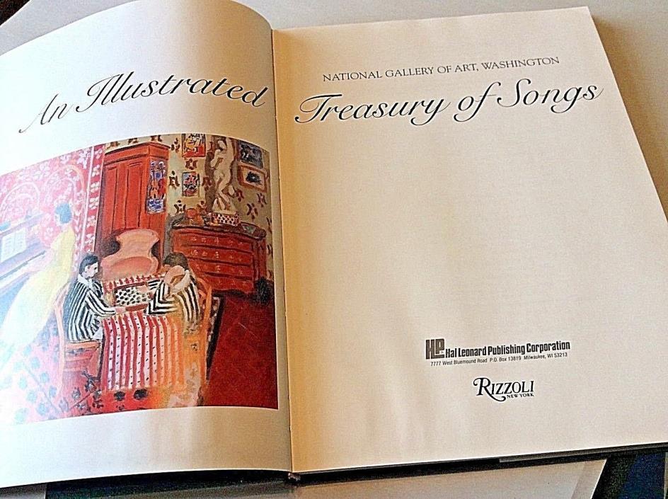 An Illustrated Treasury of Songs National Gallery of Art Washington HB/DJ 1ST ED