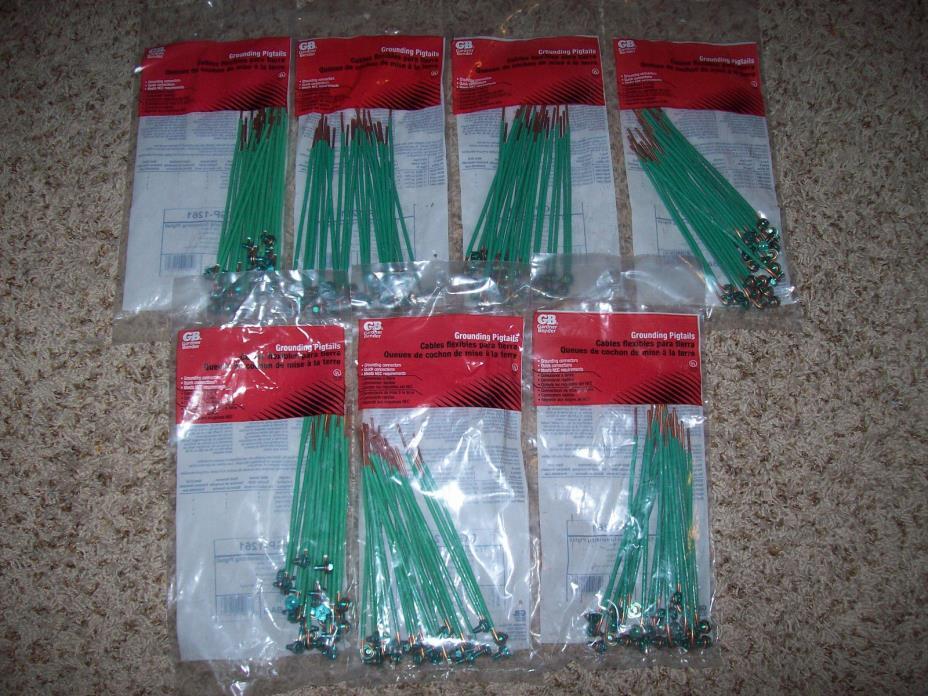 (7) Packages Gardner Bender Grounding Pigtails Wiring 12 AWG Solid GGP-1261 Bags