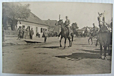 RPPC WWI 1916 German Soldiers, Cavalry, Military Real Photo Post Card, War