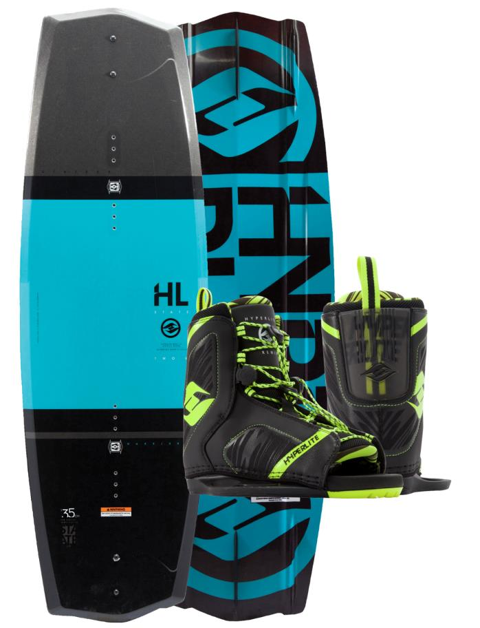 HYPERLITE STATE 2.0 145CM WAKEBORD WITH REMIX BOOT (2017) BOOT SIZE 10-14