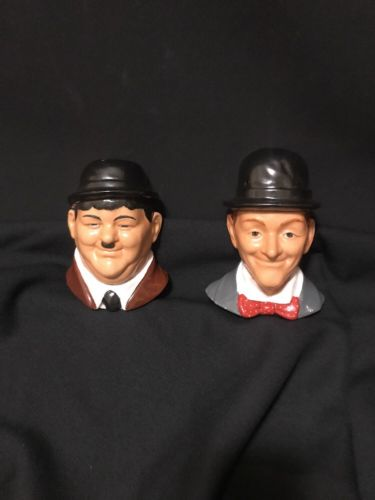 Beautiful Ceramic Laurel And Hardy Wall Hanging Bust