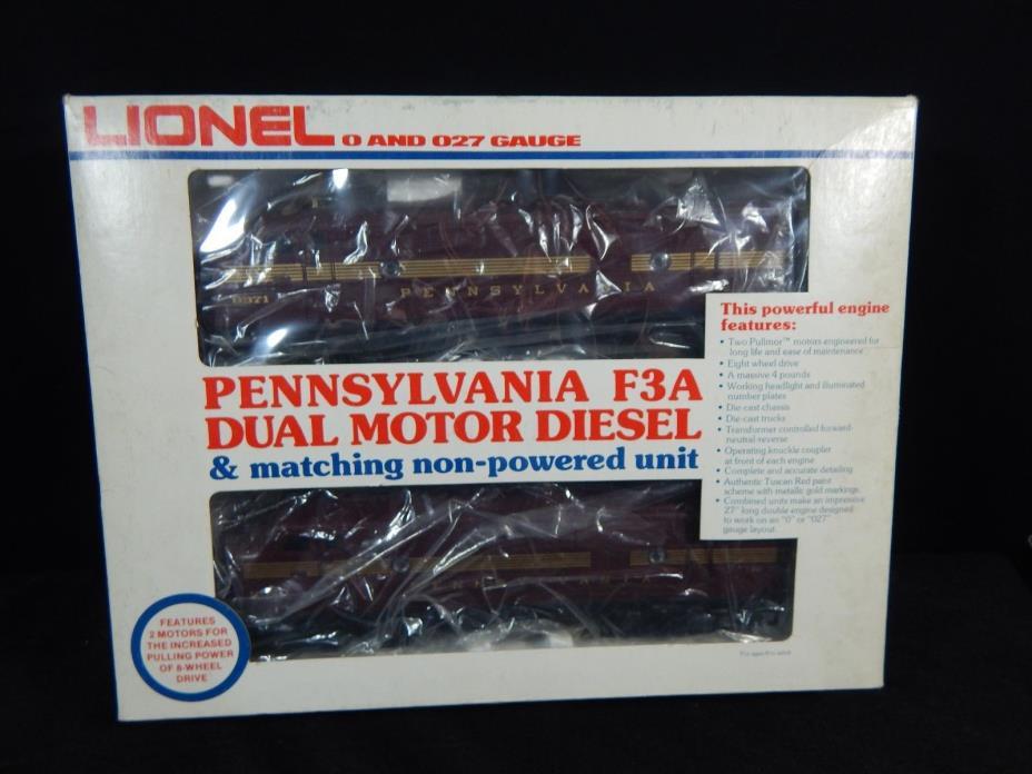 LIONEL 6-8970/8971 TUSCAN RED PENNSYLVANIA F-3A Dual Motor Diesel/ORIGINAL BOX