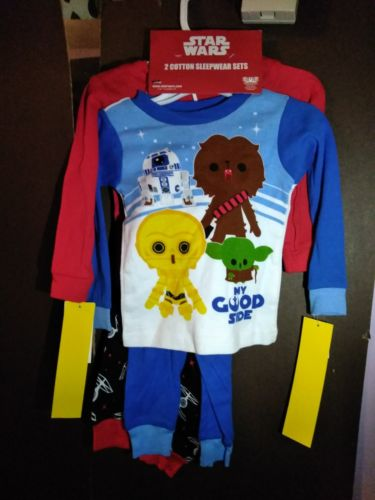 Star Wars Baby Boy Pajamas 2 PAIR Good Side Bad Side Cotton Disney NWT 18 Months