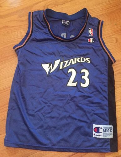 Vintage Champion Michael Jordan Washington Wizards #23 Jersey Sz Youth M (10/12)