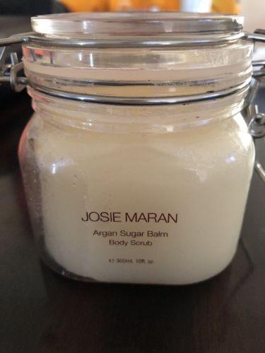 JOSIE MARAN - Argan Sugar Balm Body Scrub STRAWBERRIES & WHIPPED CREAM 10oz