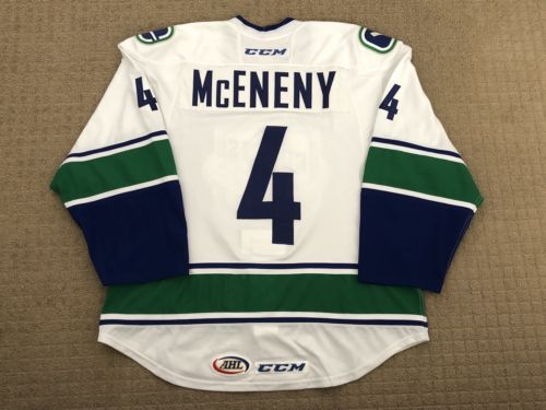 2016-17 Utica Comets AHL Evan McEneny Game Worn Jersey