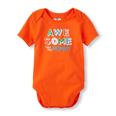 NWT Children's Place Boys 6-9 Month Short Sleeve Awesome Like My Mommy Bodysuit