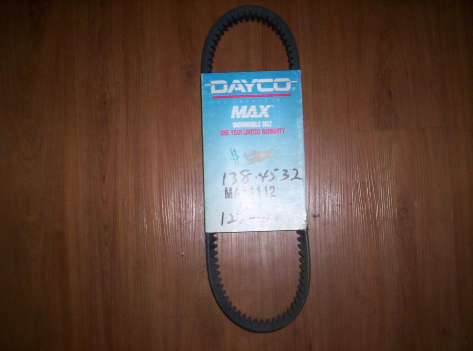 Vintage Dayco 1112 Snowmobile Drive Belt