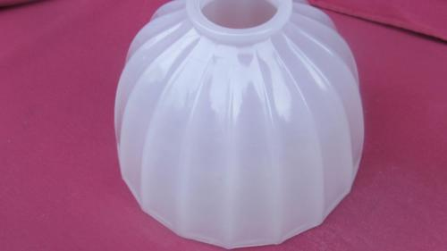 VINTAGE GLASS UMBRELLA LT PINK  LAMPSHADE FOR A BRIDGE LAMP TABLE LAMP TORCHIERE
