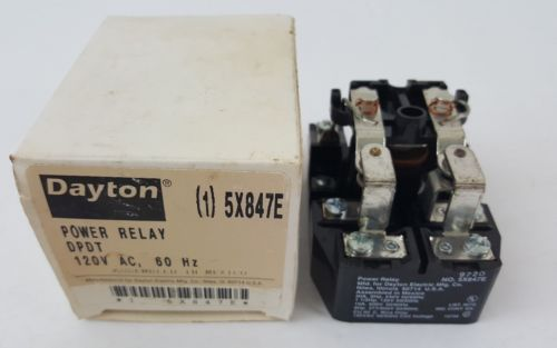 Dayton power relay5X847E  120 VAC Coil 40 Amp 300 VAC 28 VDC Contact 2 Pole DPDT